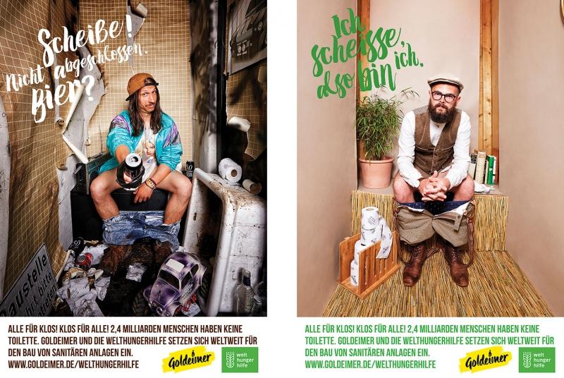 Advertisement of Goldeimer Toilets shot by Jessica Zumpfe