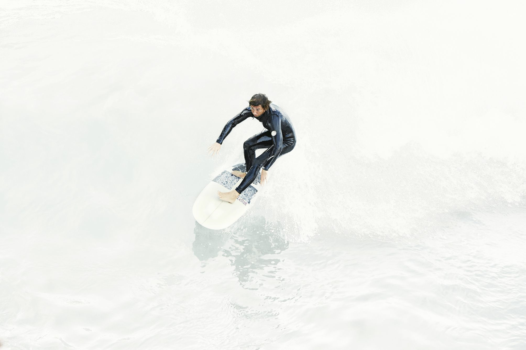 Surfer catching a wave in California