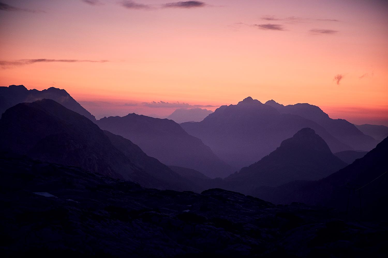 Spectacular sunset ontop of the mountain
