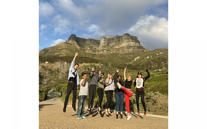 Team photo of the Tchibo Active photoshoot in Cape Town with Jessica Zumpfe
