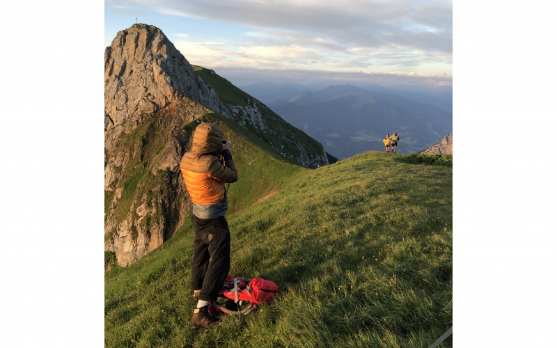 Behind-the-scenes of Jessica Zumpfe shooting trailrunning in Austria